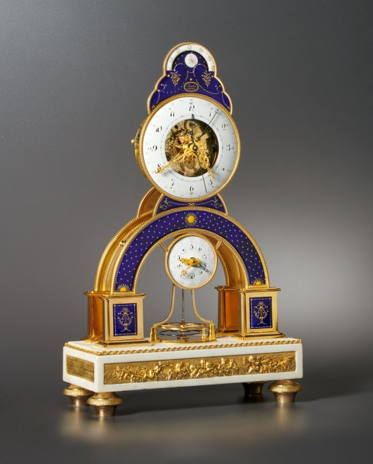 A Directoire skeleton clock of eight day duration by Darlot