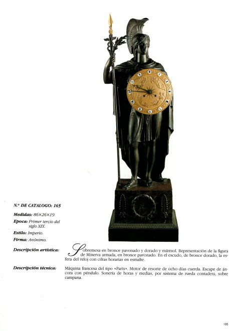 A late Empire mantel Clock representing Pallas Athena attributed to Gérard-Jean Galle