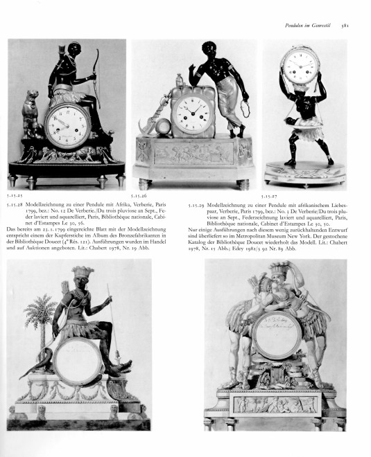 An Empire mantel clock %22La Nourrice Africaine or the African Nursemaid%22, housed in a case after a design by Louis Croutelle aîné