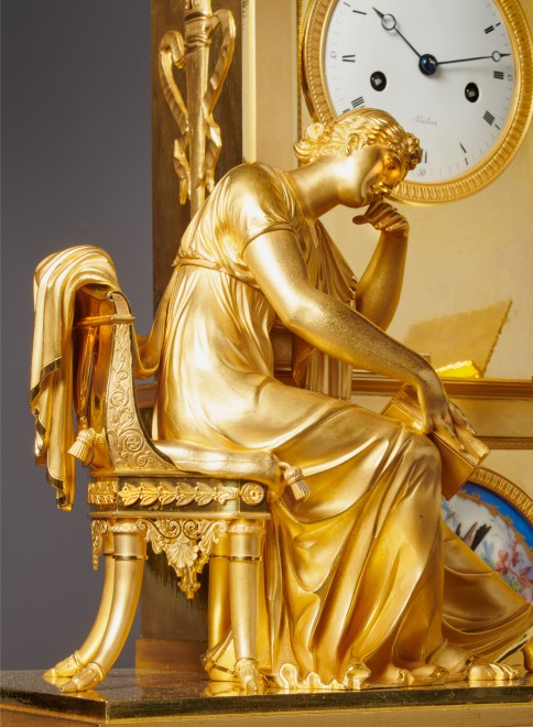 An Empire figural mantel clock by Boileau
