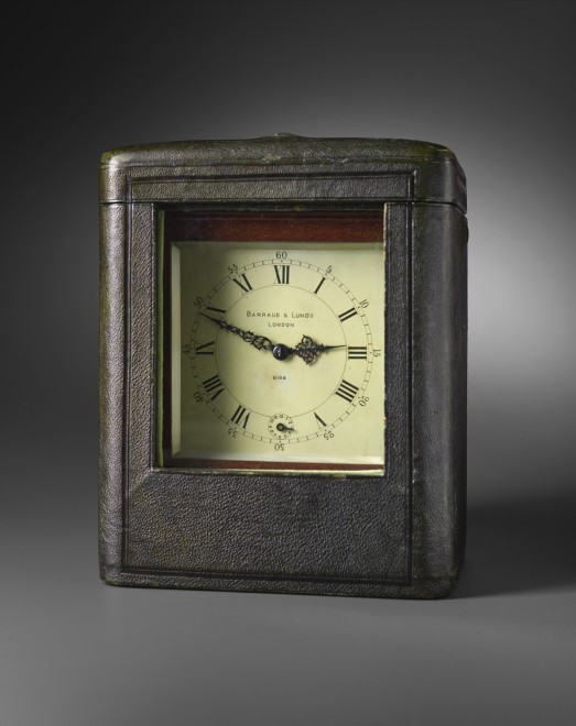 A 19th century miniature travelling timepiece by Barraud & Lunds