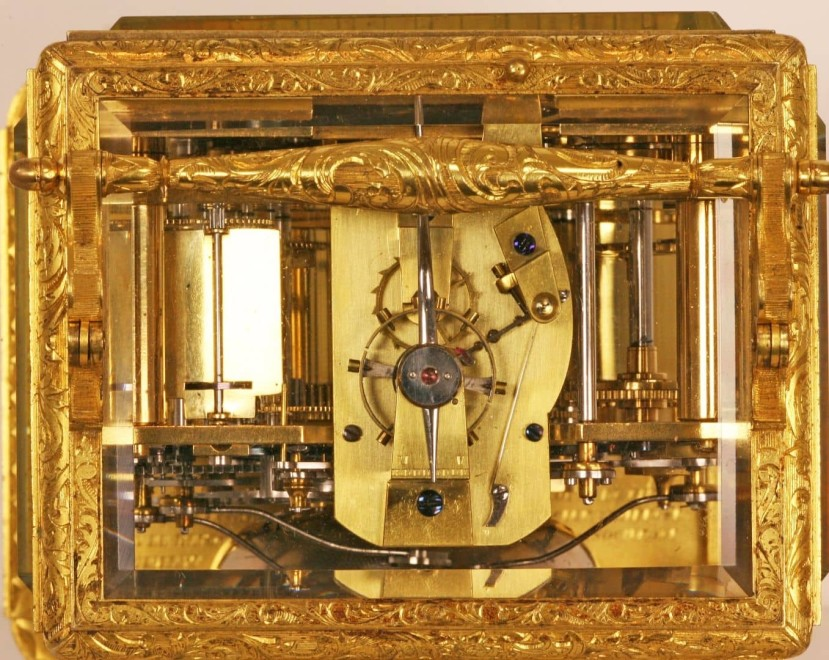 A grande sonnerie carriage clock by Charles Frédéric Klentschi