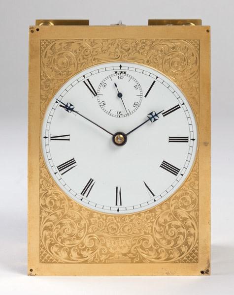 A striking carriage clock by John Barwise