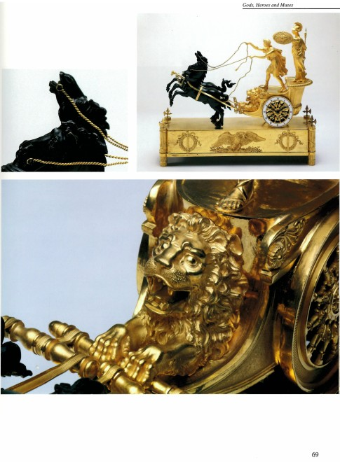 An Empire chariot clock, attributed to Jean-André Reiche