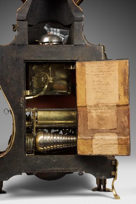 A Louis XV musical grand cartel clock with bracket by Denis-Fréderic Dubois