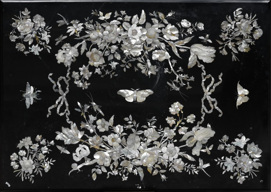 A German late seventeenth century  table top by Franz de Hamilton, base French