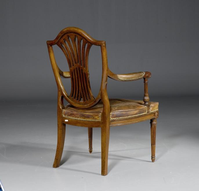 """A Louis XVI  fauteuil  """"à la Reine"""", with sabre legs"""