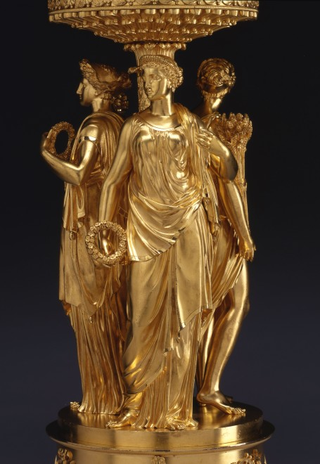 An Empire figural centrepiece with detachable nine-light candelabrum by Pierre-Philippe Thomire