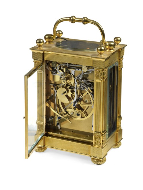 A large grande and petite sonnerie striking carriage clock by Breguet Neveu Compagnie à Paris