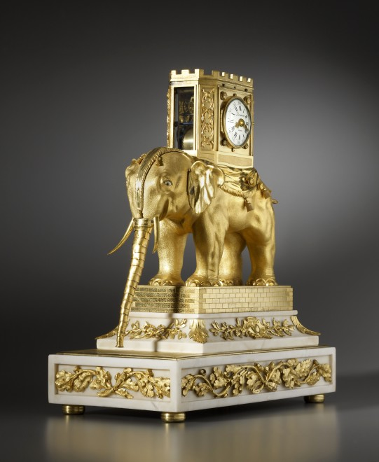 A very important George III automaton elephant clock by Hubert Martinet