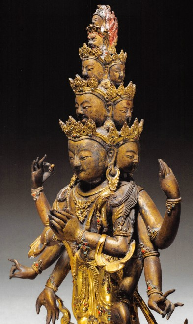 A figure of the eleven headed of Avalokiteshavara