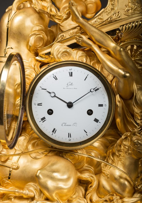 An Empire figural clock representing the fall of Phaeton,by Claude Galle and Nicolas Thomas