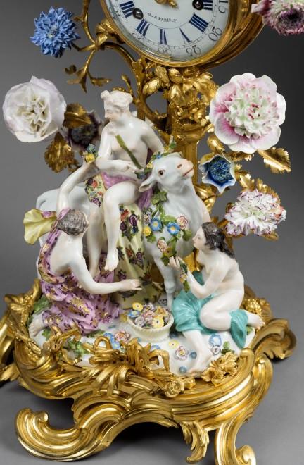 "A Louis XV mantel clock ""Europa and the Bull"" by Gérard Benoît"