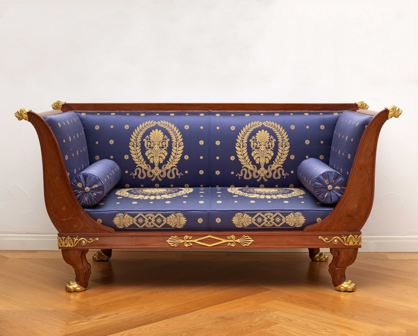 An Empire suite of furniture, comprising a pair of fauteuils, a pair of bergères and a canapé by Jacob-Desmalter et Cie