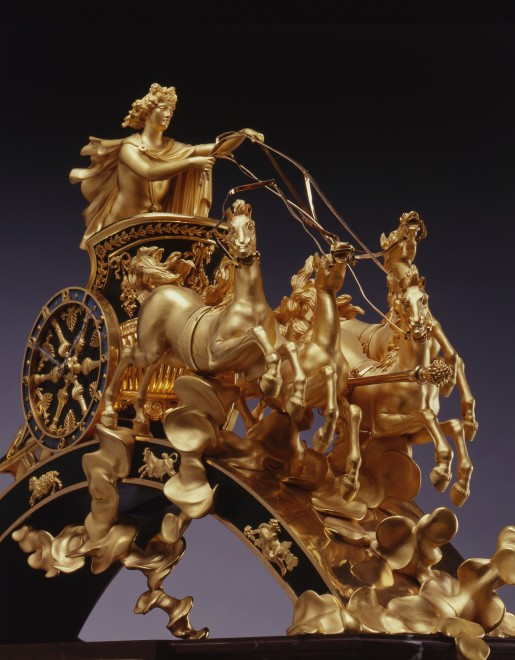 An Empire chariot clock, representing Phaeton's flight in the sun's chariot across the heavens by Pierre-Philippe Thomire