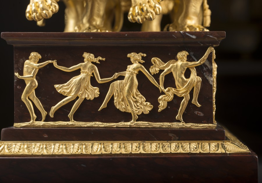 A late 18th Century mantel clock, the case featuring 'Le Char de Cérès' by Pierre-Philippe Thomire