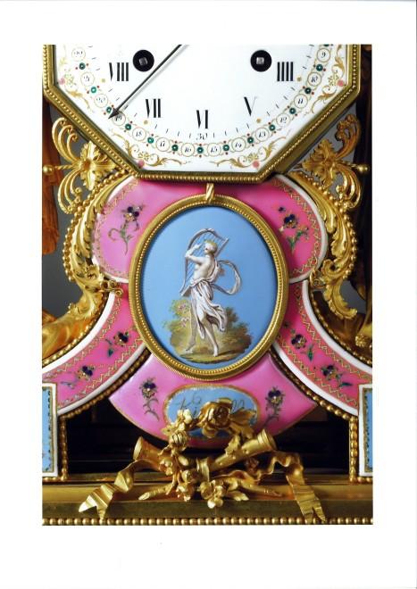 A late Louis XVI mantel clock, the enamel work by Joseph Coteau and movement by Dieudonné Kinable