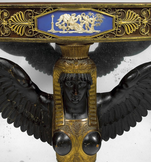An Empire console, attributed to Martin Eloi Lignereux, Adam Weisweiler and Pierre-Philippe Thomire