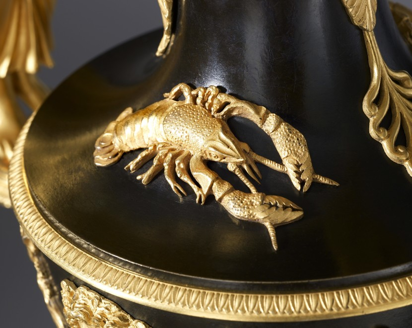 A pair of Empire ewers by Claude Galle