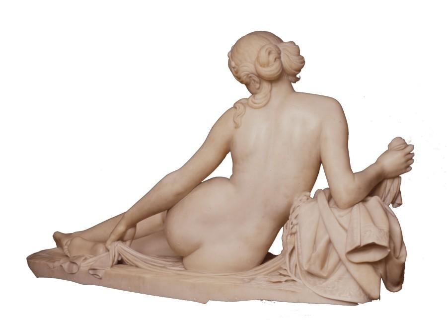 A Classical figure entitled %22Laura al Bagno%22 by Santo Varni