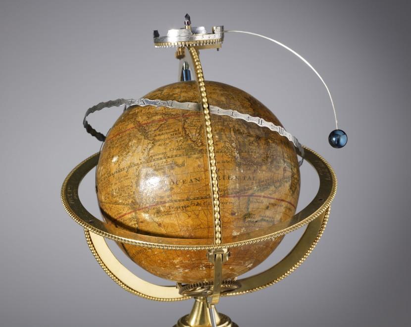 A Louis XVI  planetarium clock by Augustin II Fortin