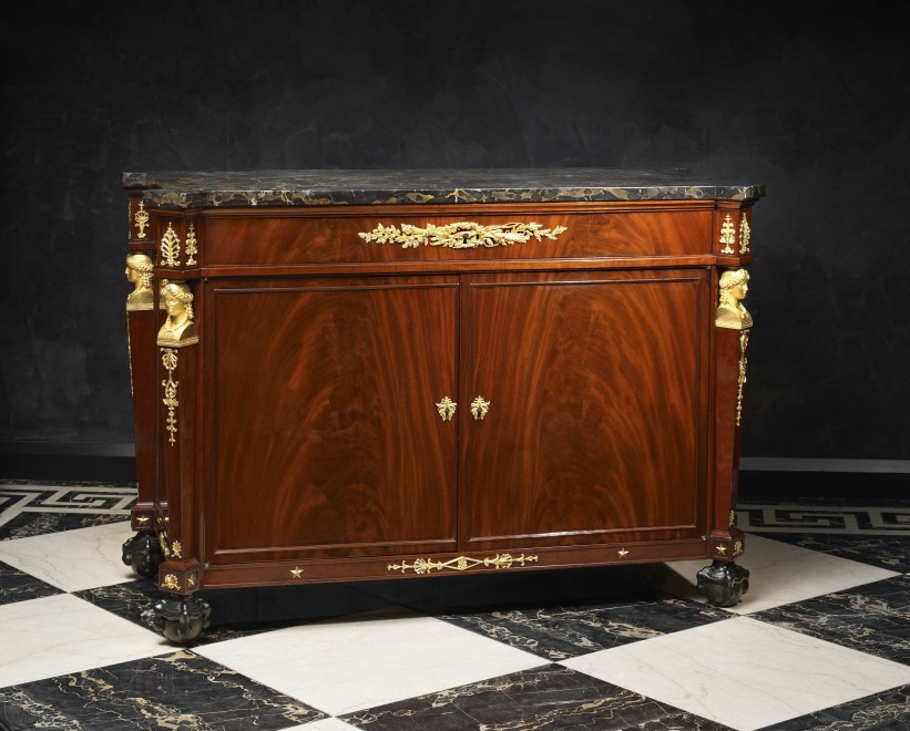 An Empire mahogany secrétaire à abattant and matching commode by Guillaume Benneman