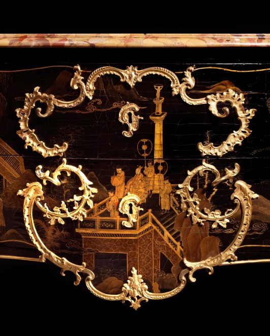 A Louis XV commode by Jacques Dubois