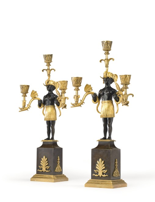 A pair of Directoire candelabra by Jean-Simon Deverberie