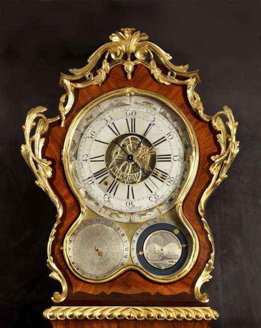 A Louis XV longcase regulator with movement by Jean-Louis Bouchet and case by Adrien-Jérôme Jollain