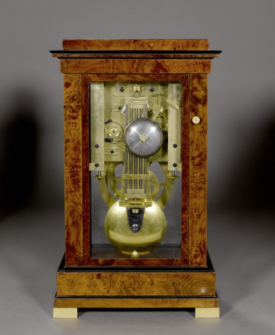 An Empire month going table regulator with year calendar and equation of time, by Claude-Armand Lory