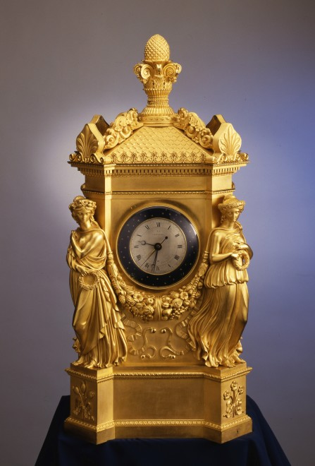 An Empire astronomical clock by Jean Joseph Lepaute