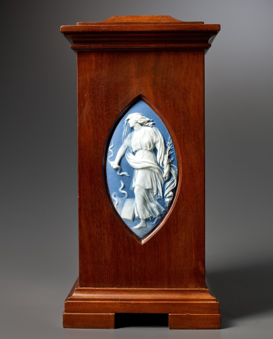 A small subscription table regulator by Antide Janvier, enamel work by Dubuisson