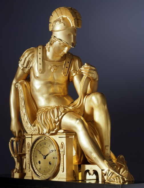 A Restauration mantel clock by Louis-Stanislas Lenoir-Ravrio