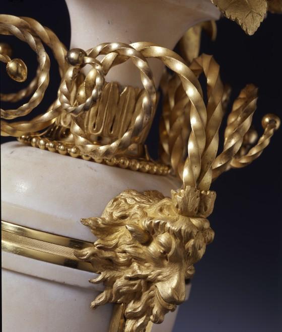 A pair of late Louis XVI three-light candelabra