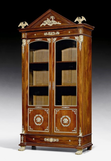 An Empire style bookcase %22Aux Aigles%22