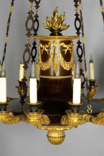 A Restauraion twenty four light chandelier