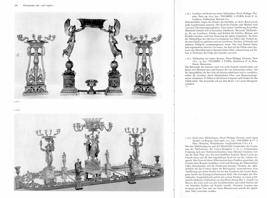 An set of four Empire statuettes for a surtout de table attributed to Pierre-Philippe Thomire