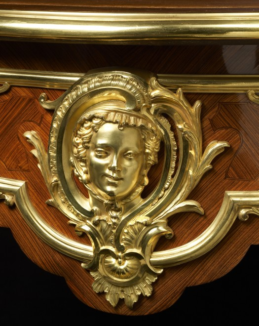 A Louis XV style bureau plat attributed to Alfred Beurdeley