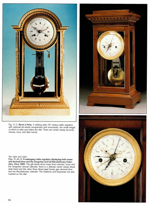 A Directoire table regulator with Gregorian and full Revolutionary Calendars
