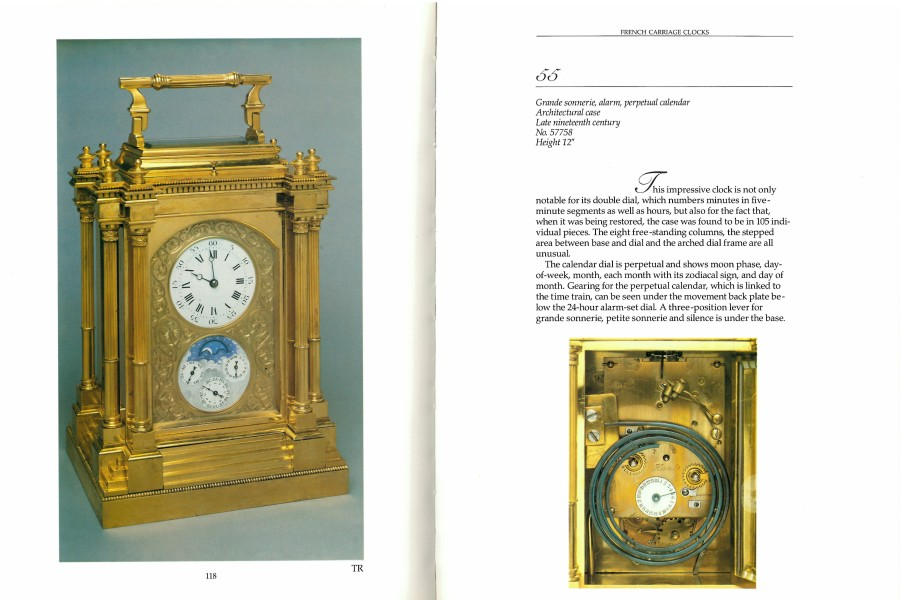 A French 19th Century carriage clock with Grande sonnerie, alarm and perpetual calendar