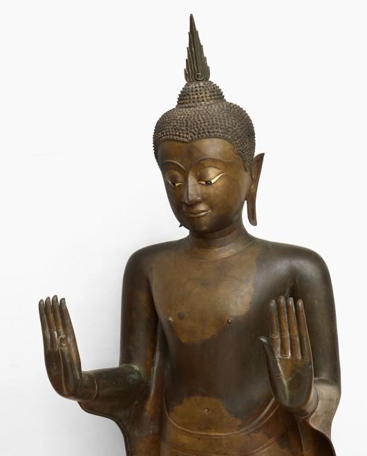 A late 17th Century Standing Buddha, Sukohothai Style - Ayutthaya period