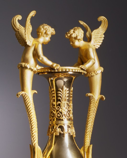 "A pair of Empire vases ""aux amours"" attributed to Claude Galle"