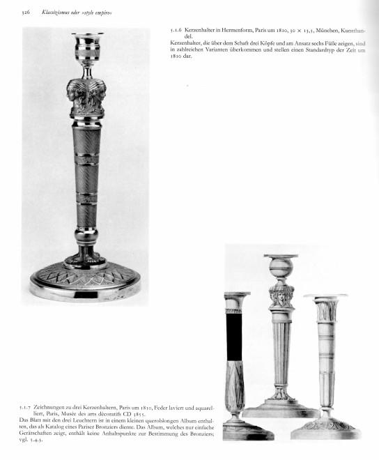 A set of six Empire candlesticks