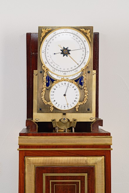 A month going longcase regulator with mean and sidereal time by Antide Janvier, No. 215