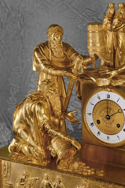 An Empire mantel clock of eight day duration by Chatourel