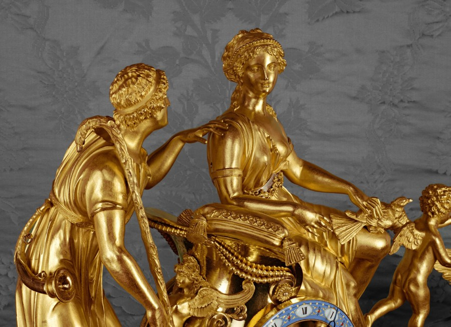 An Empire chariot clock of eight day duration by Basile-Charles Le Roy