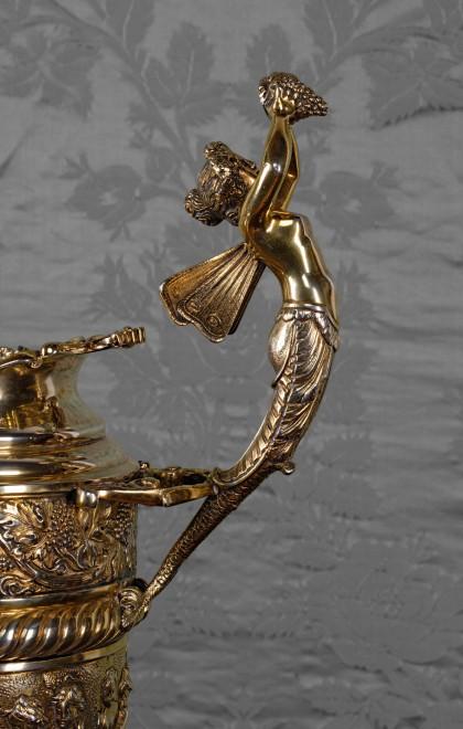 A nineteenth century silver-gilt ewer