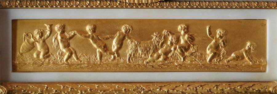 A Louis XVI mantel clock representing the Vestal Virgins Carrying the Sacred Fire by Pierre-Claude Raguet-Lépine