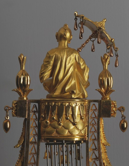 A Louis XVI figural lyre clock of eight day duration by Joseph-Charles-Paul Bertrand