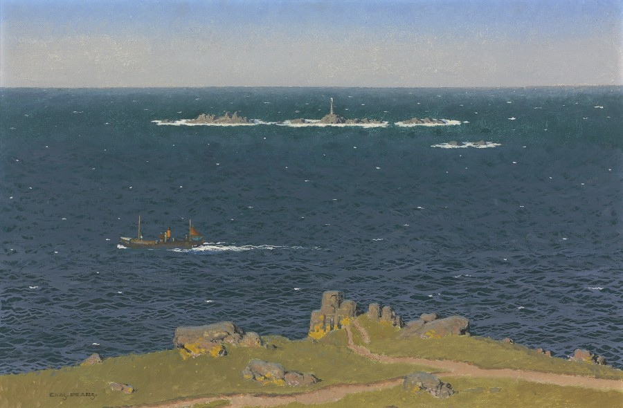 Charles Pears, PSMA, ROI, Longships Lighthouse, Land's End